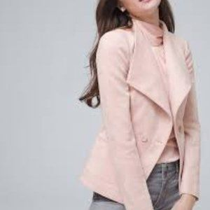 WHBM Ultra Faux Suede Jacket Pink 12P 12 Petite